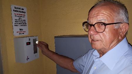 Eröffnung der Flutlichtanlage