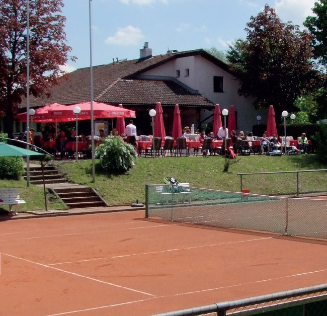 Center Court und Terrasse
